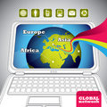 Global network banner. Royalty Free Stock Photography