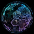 Global network internet technologies. Digital world map Royalty Free Stock Photo