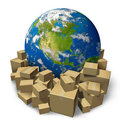 Global Package Delivery Stock Photos