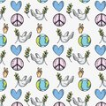 Global peace and love to worldwide harmony backgroun Royalty Free Stock Photo