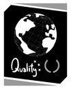 Global qualty creative design of quality Royalty Free Stock Photography