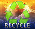 Global recycling eco symbol Royalty Free Stock Image