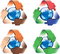 Global safe recycling Stock Images