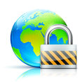 Global security concept Stock Photo