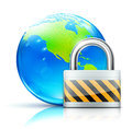 Global security concept Royalty Free Stock Images