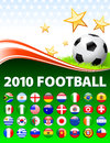 Global soccer event with buttons original illustration Stock Image