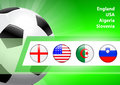 Global soccer event group c original illustration Stock Photos