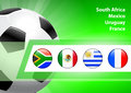 Global soccer event group a original illustration Royalty Free Stock Photos