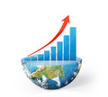 Global success concep on Earth Royalty Free Stock Photo