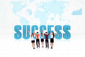 Global success team Royalty Free Stock Photo