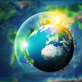 Global sustainable development concept environmental backgrounds Stock Photos