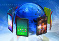 Global tablet PC boom concept Royalty Free Stock Image