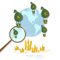 Global transactions transfer banking business finance Royalty Free Stock Photo