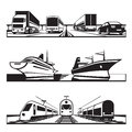 Global transportation set vector illustration Royalty Free Stock Image