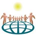 Global verbundene Leute Lizenzfreies Stockfoto