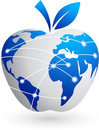 The global village - technology abstract apple Stock Photos