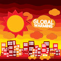 Global warming illustration vector concept eps Royalty Free Stock Photos