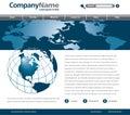 Global webpage design Stock Photo
