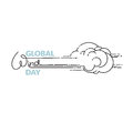 Global Wind Day vector illustration isolated on white