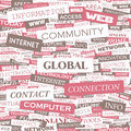 Global word cloud illustration tag cloud concept collage Stock Photography