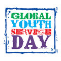 Global youth service day march Stock Photo