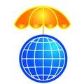 Globaler Schutz Lizenzfreies Stockfoto