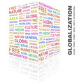 Globalization word cloud illustration tag cloud concept collage Royalty Free Stock Photography