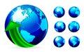 Globe with arrows Royalty Free Stock Photo