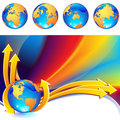 Globe background Royalty Free Stock Photography