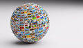 Globe, Ball With Various Pictu...
