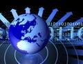 Globe and binary codes Royalty Free Stock Photo