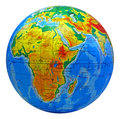 Globe, in a center Africa Stock Image