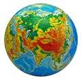Globe, in a center Eurasia Royalty Free Stock Photo