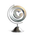 Globe copyright sign 3d Illustrations Stock Photos
