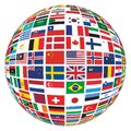 Different World Country Flags Globe Royalty Free Stock Photo
