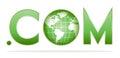 Globe with dot com Royalty Free Stock Photo