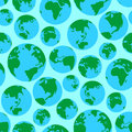 Globe Earth green planet world surface seamless pattern vector illustration background Royalty Free Stock Photo