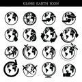 Globe earth icon set Credit NASA Royalty Free Stock Photo