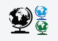 Globe earth icons themes idea design images of flag Royalty Free Stock Images