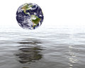 Globe earth rising waters Royalty Free Stock Images