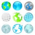 Globe and Earth set Royalty Free Stock Photo