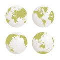 Globe earth vector icon set on white background Royalty Free Stock Photo