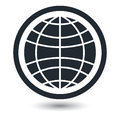 Globe earth vector icons on white background