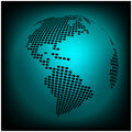 Globe earth world map - abstract dotted vector background. Blue wallpaper illustration