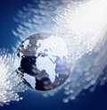 Globe with fiber optics Stock Photography