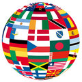Globe with flags Stock Images