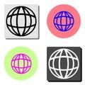 Globe. flat vector icon