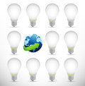 Globe full of ideas illustration design over a white background Royalty Free Stock Image