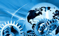 Globe with gears Royalty Free Stock Photos