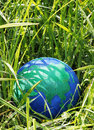 Globe in the grass Royalty Free Stock Photos